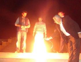 Iğdırda Ermenisatan bayrağı yaktılar