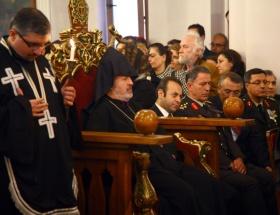 Kilisede şehit cenaze töreni