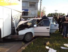 Termede kaza: 2si ağır 5 yaralı