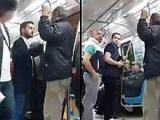 Metroda Soma kavgası - Birbirlerinin Üstüne Yürüdüler
