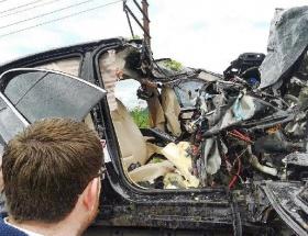 Fatsada korkunç kaza