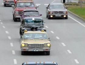 Samsunda klasik otomobil turu