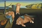 Rus sanatçı şişman kedisini tablolara eklerse