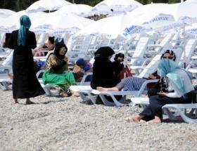 Kadınlar Plajında eylem hazırlığı