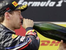 Japonyada zafer Vettelin