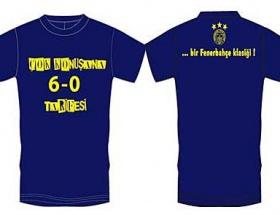 Fenerbahçeden 6-0a özel tişört