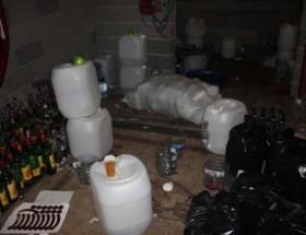 Adanada sahte içki operasyonu