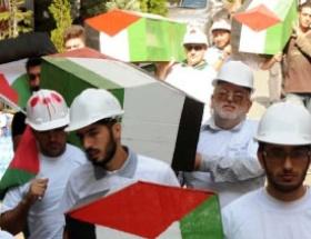Taksimde Gazzeye destek gösterisi