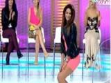Yarışmacıdan olay dans