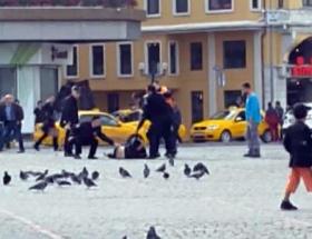 Taksim Meydanında öldüresiye dayak