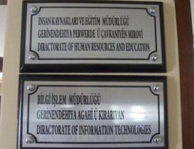 Şırnak Belediyesinde Türkçe-Kürtçe tabela