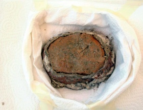 1600 yıllık kumaş bulundu