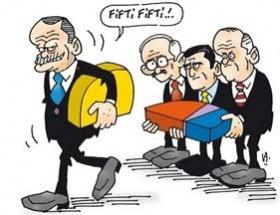 Seçimin ilk karikatürü
