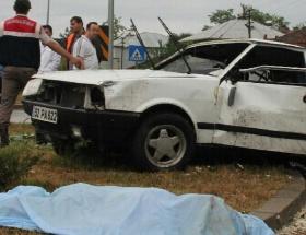 Samsunda kaza: 1 ölü, 4 yaralı