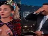 Miley Cyrusın sunucuyu utandırğı an