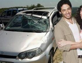Kaza yaptı, hastaneden sete koştu