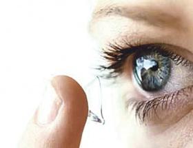 İnterneti göze yansıtan lens