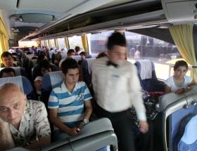 Bayramda otobüsler yine doldu