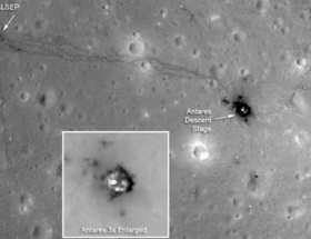 Ay yüzeyinde insan izleri