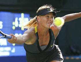 Sharapova turnuvaya hazırlanıyor