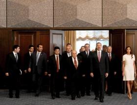 Aliyev, Demirel ve Çavuşoğlunu kabul etti