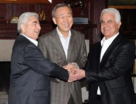 New Yorkta 5. Kıbrıs üçlü görüşmesi başladı