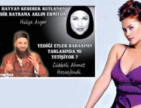 Cübbeli Hoca, Hülya Avşarı çarşafa soktu