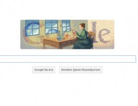 Googledan Marie Curie logosu