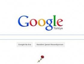 Googledan Atatürke tek karanfil