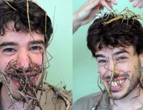 Böcekleriyle mutlu !