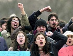 ÖSYM toplantısına protesto