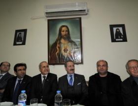 Çağlayan Ortodoks Kilisesini ziyaret etti