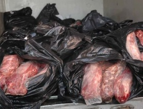 Mardinde 10 ton bufalo eti bulundu