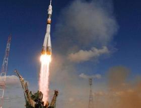 Soyuz uzay aracı uzaya fırlatıldı