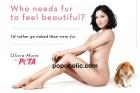 Olivia Munn PETA için soyundu