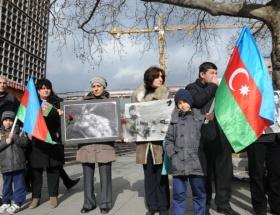 Hocalı katliamı Brükselde protesto edildi