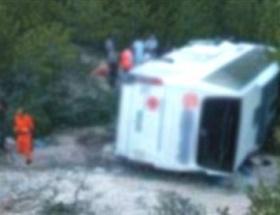 Konyada servis kazası: 20 yaralı