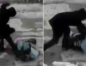 Sokak ortasında dövüldü