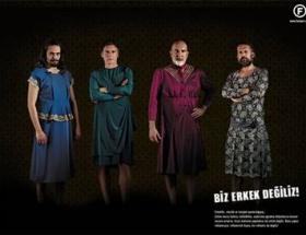 Hitlerli reklama elbiseli kınama
