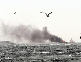 Ahırkapıda tekne yangını