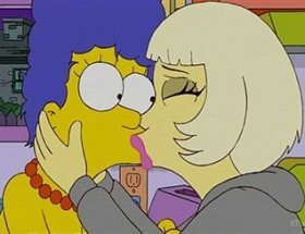 Lady Gaga Simpsonsları ziyaret etti