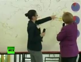 Merkel haritada Berlini bulamadı