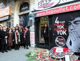 Hrant Dink için mum yaktılar