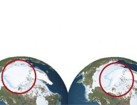 Kuzey Kutbu böyle eridi