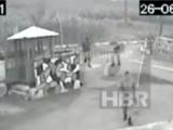 Trabzondaki hain saldırı kamerada