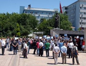 Trabzonda HES protestosu