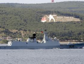 Çin savaş gemileri, Çanakkale Boğazından geçti