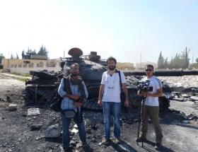AA muhabiri Suriyede yaralandı