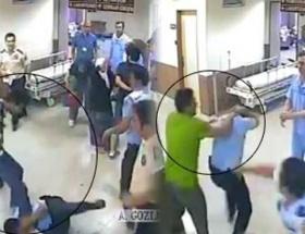 Polise hastanede dayak
