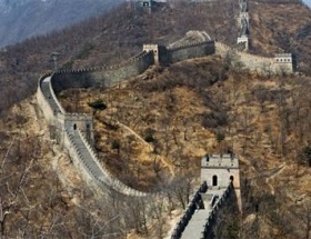 Çin seddi yağmura dayanamadı